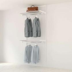Kit Rangement Dressing Basic Elfa Blanc 90 Cm-Elfa
