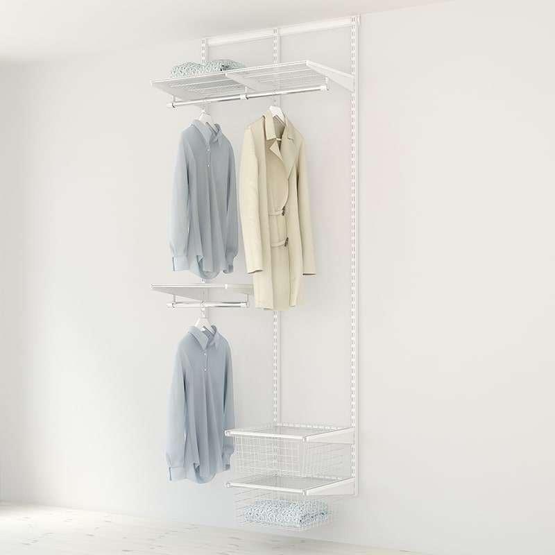Kit Rangement Dressing Medium Elfa Blanc 90 Cm-Elfa