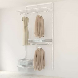 Kit Rangement Dressing Medium Elfa Blanc 95 Cm-Elfa