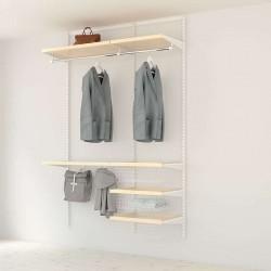 Kit Rangement Dressing Prenium Elfa Blanc Bouleau 120 Cm-Elfa