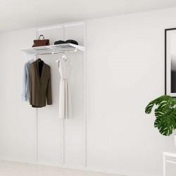 Kit Rangement Dressing Basic Elfa Blanc 165 Cm-Elfa